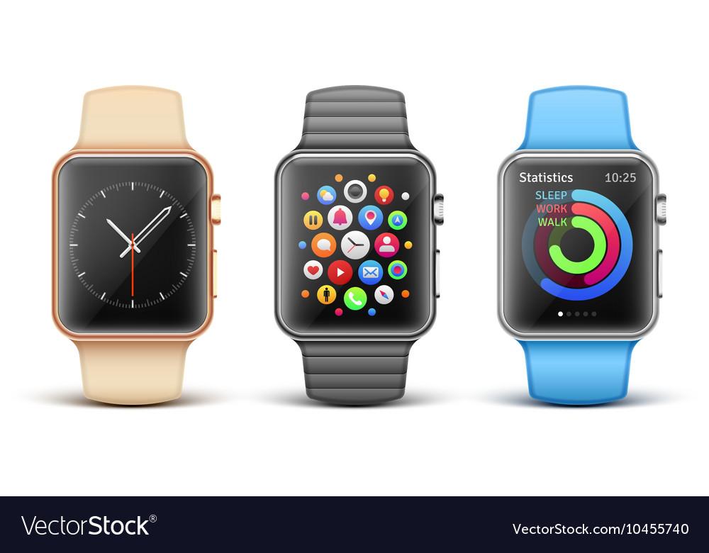 Smart electronic apple watches set