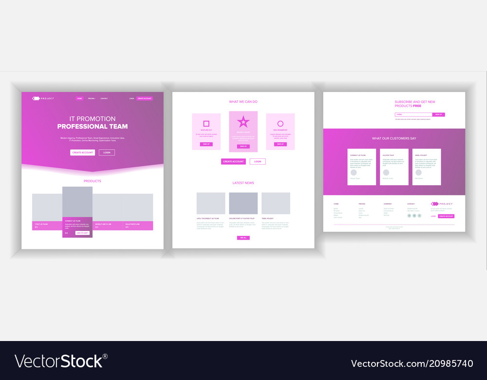 Website page business agency web page