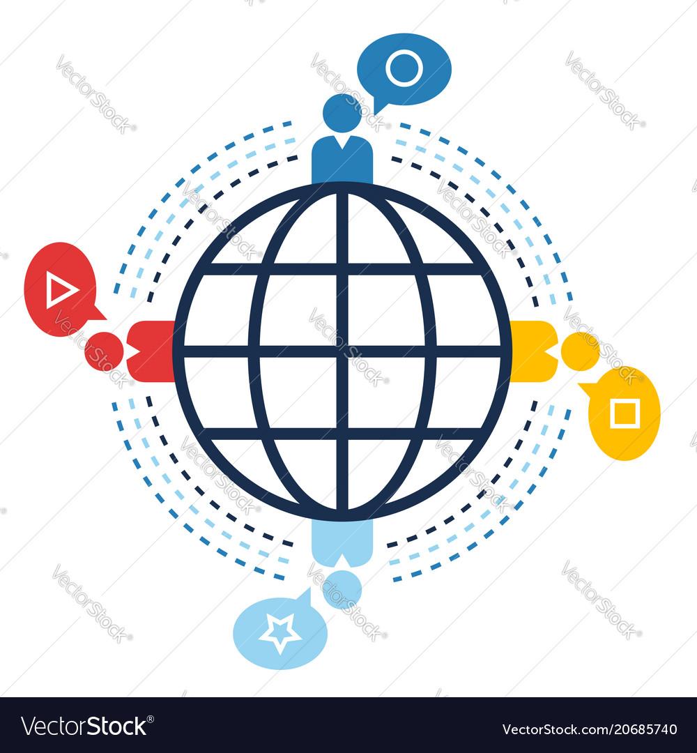 World connection social sites web communication