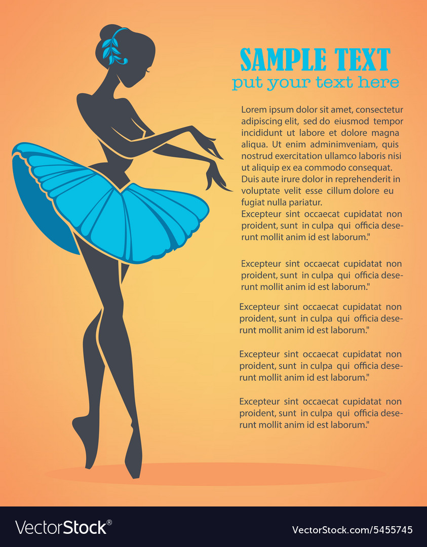 Ballet girl vector image