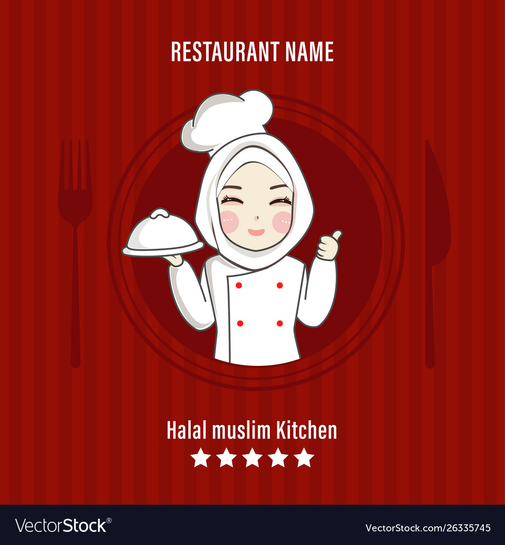 Chef Hijab Vector Images 23