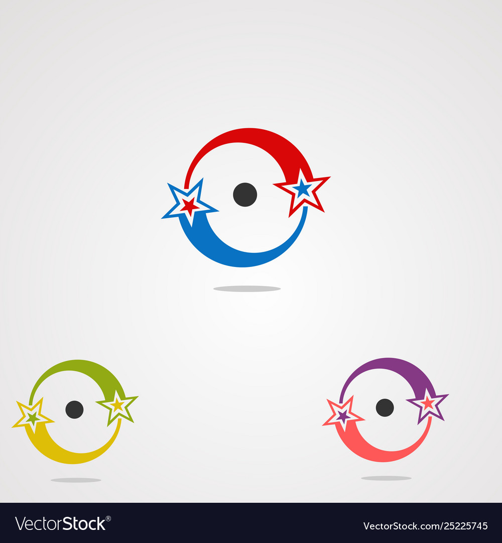 Circle logo icon element and template for company