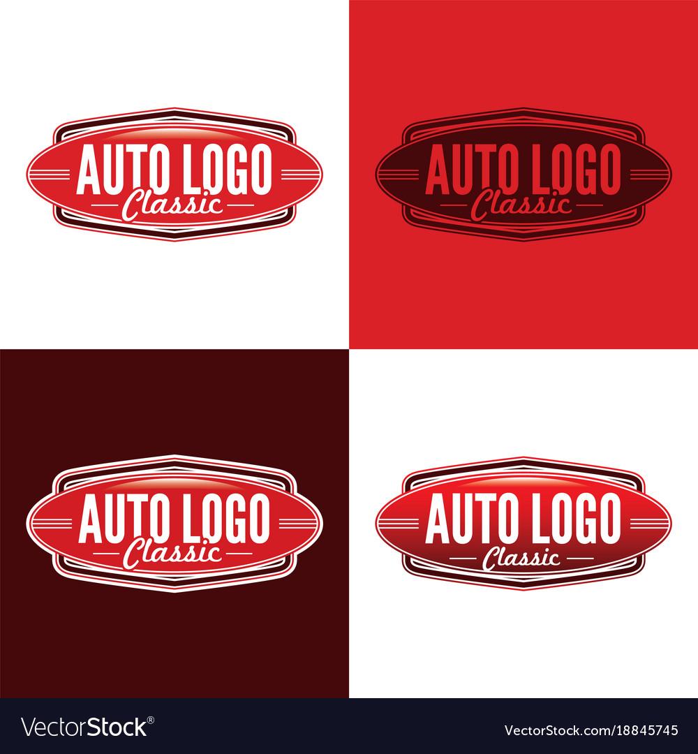 Classic auto logo