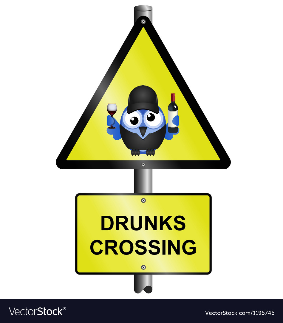 DRUNKS CROSSING vector image