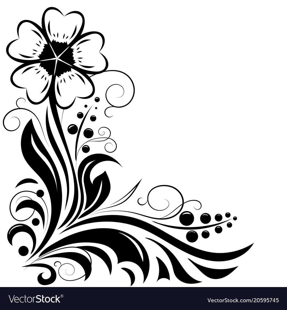 Flower Decorative Design For Invitations Vector Image
