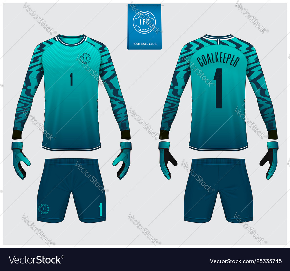 Goalkeeper jersey or soccer kit mockup