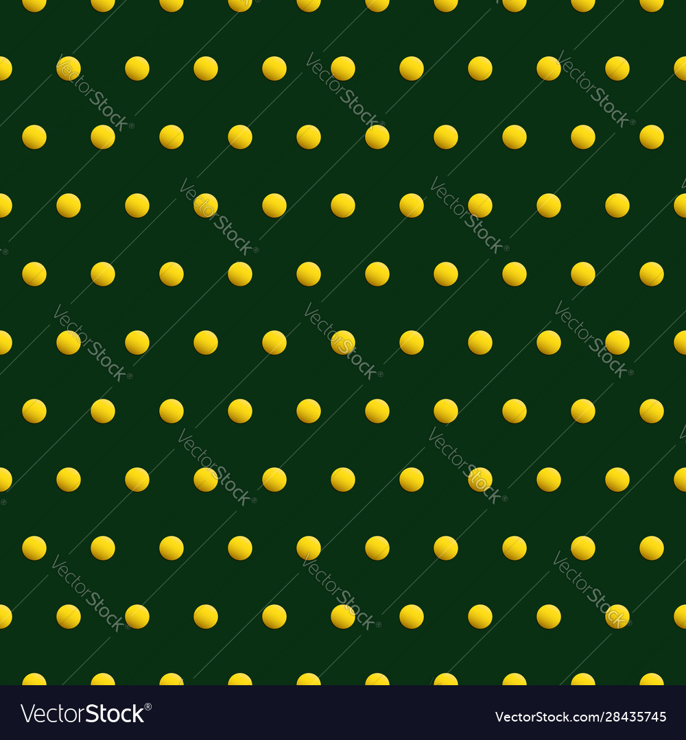 Gold dots on green color abstract background