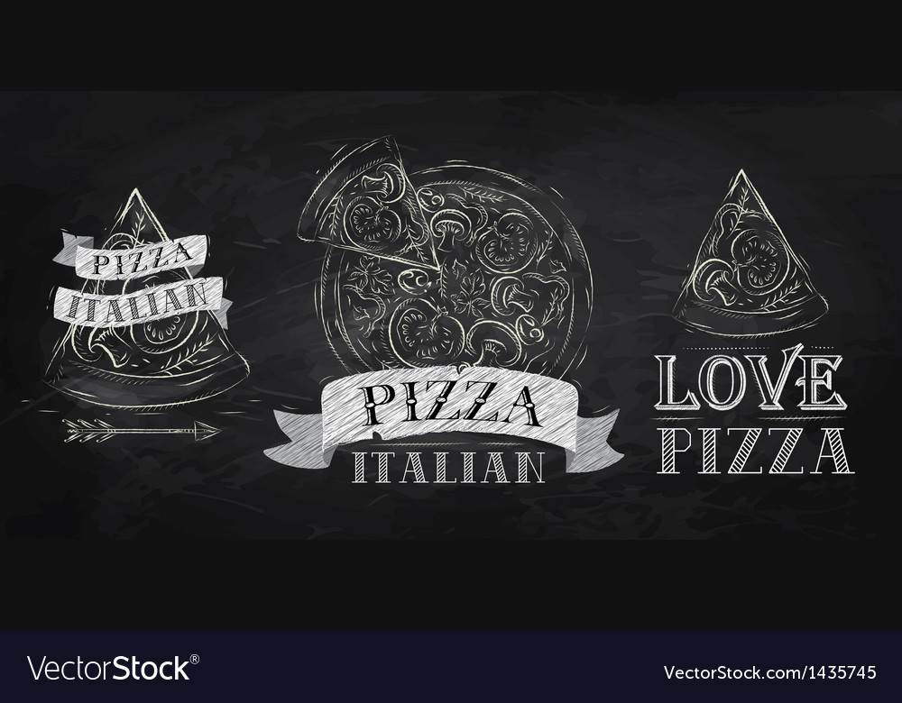 Pizza logo chalk