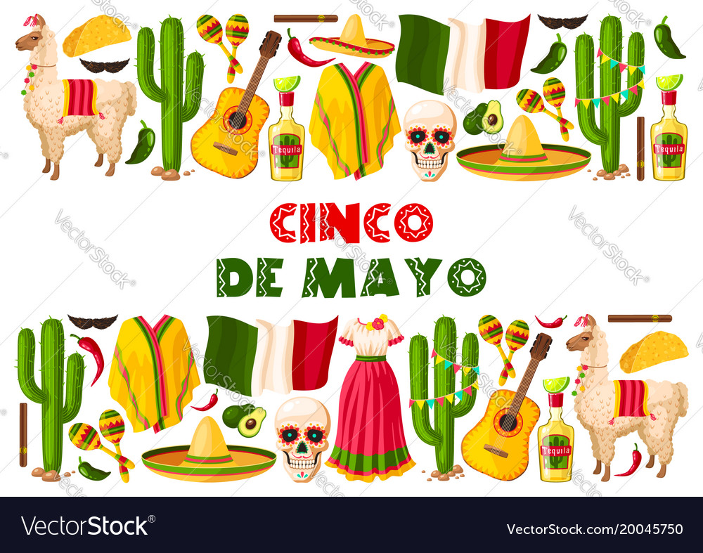 Cinco de mayo holiday mexican greeting card vector image m4hsunfo