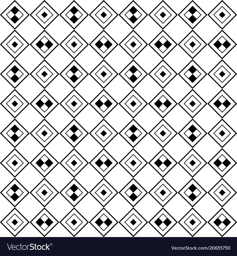 Monochrome tiled pattern diagonal seamless