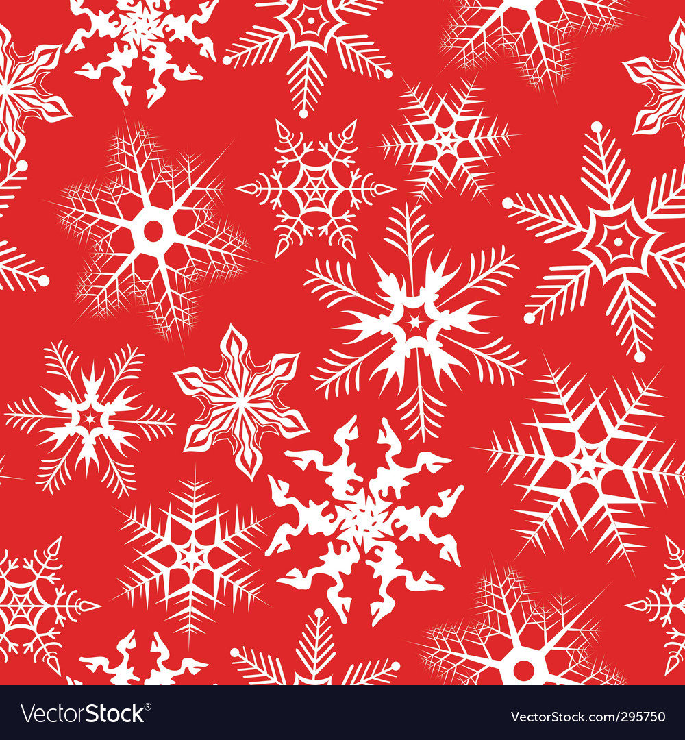 red background with snowflakes illustration vector image