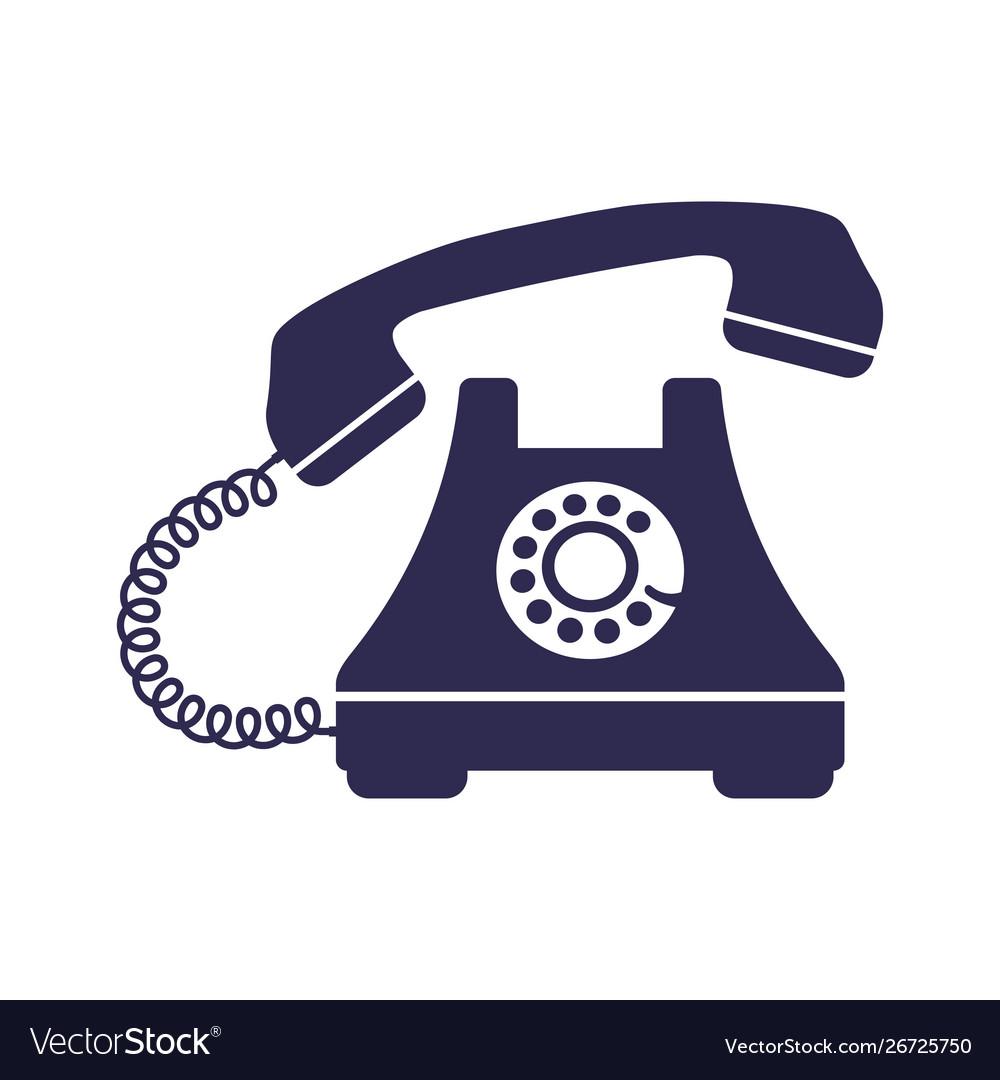 Retro styled telephone ringing