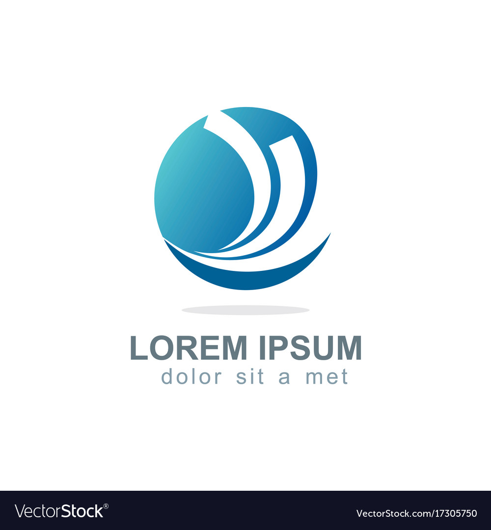 Round Loop Business Finance Company Logo Vector Image