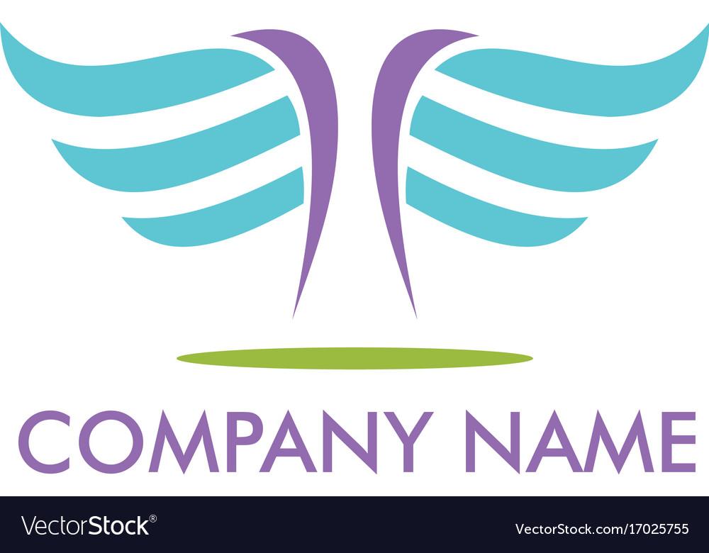 Abstract wing fly company logo