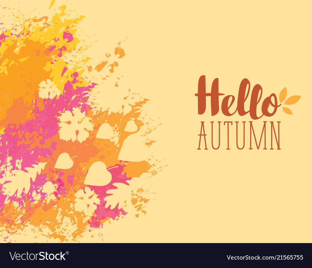 Autumn banner with bright abstract spots