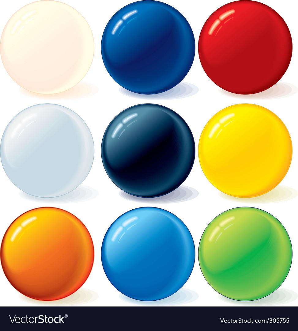 Ball icons vector image