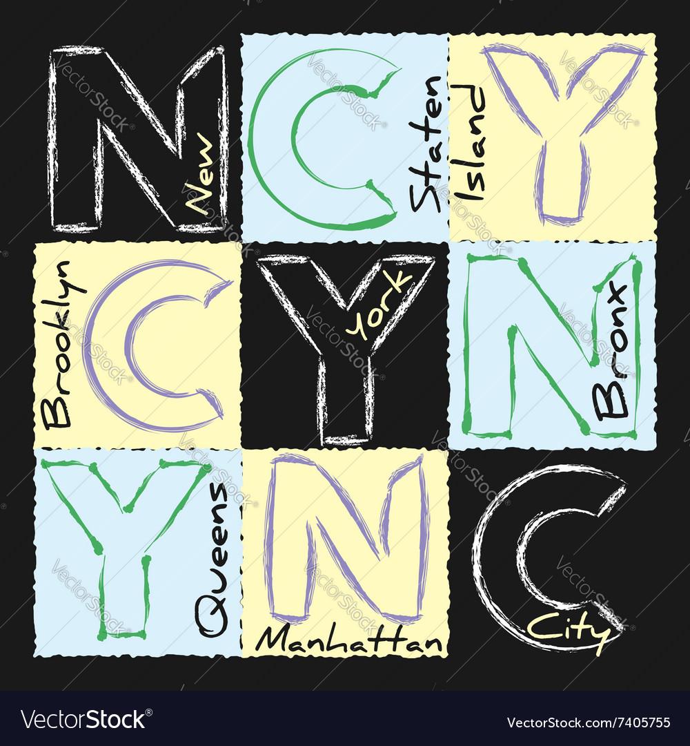 NYC print design