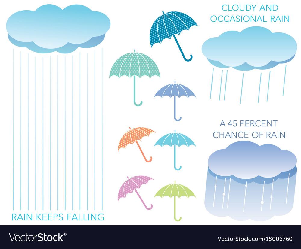 A set of assorted regarding the rain