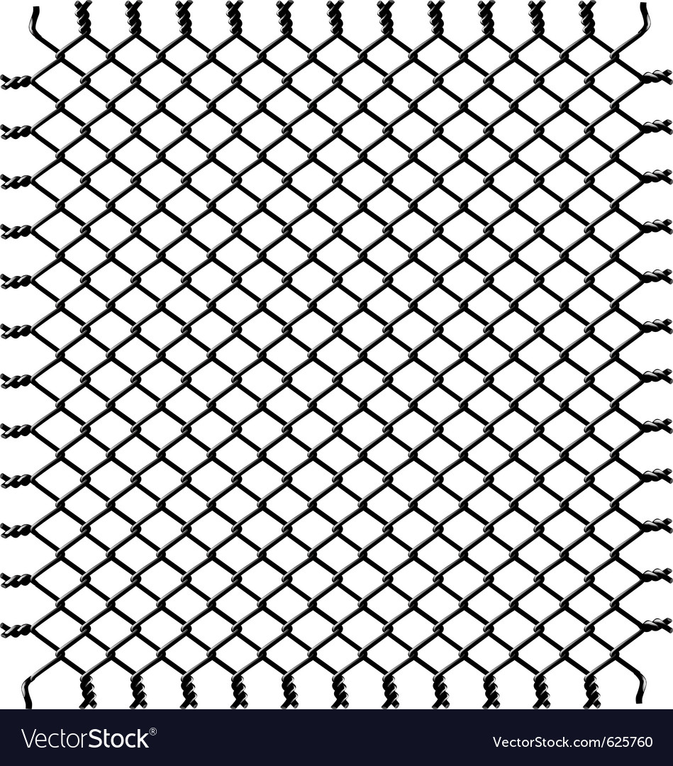Black woven wire fence Royalty Free Vector Image