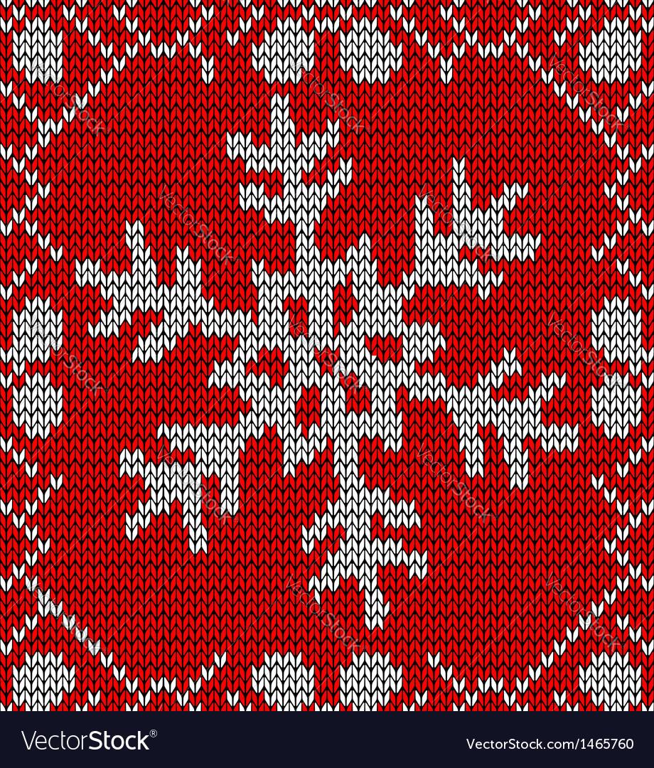 Christmas snowflake knitting pattern Royalty Free Vector