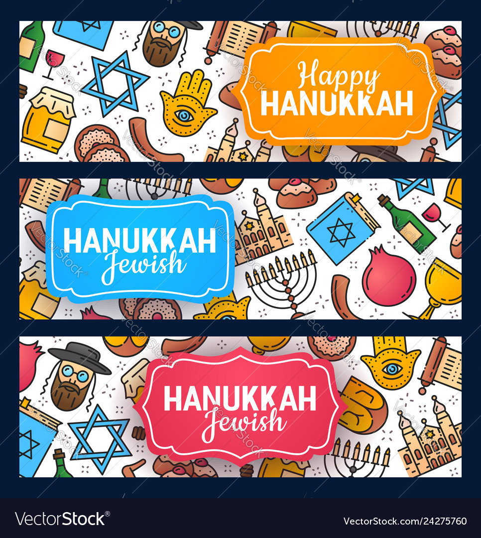 Happy hanukkah israel jewish holiday greeting