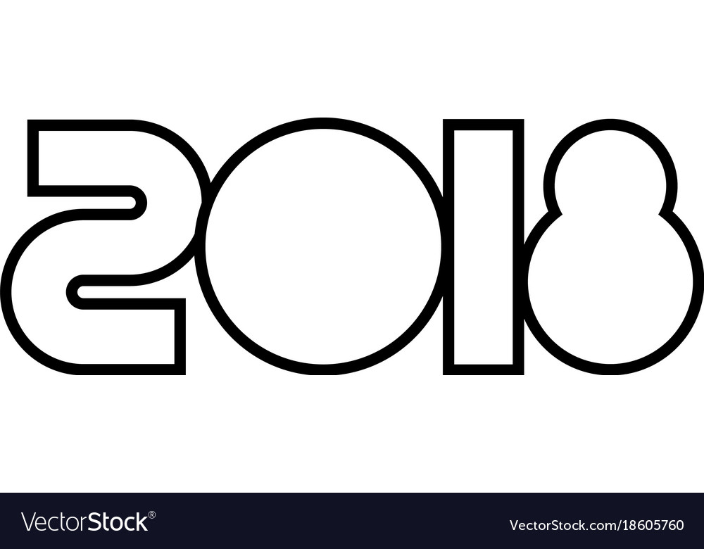 Happy new year 2018 text design image