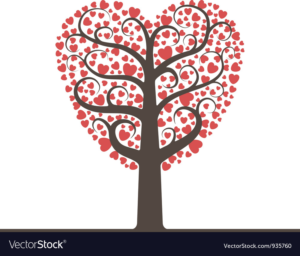 Love tree with space for text