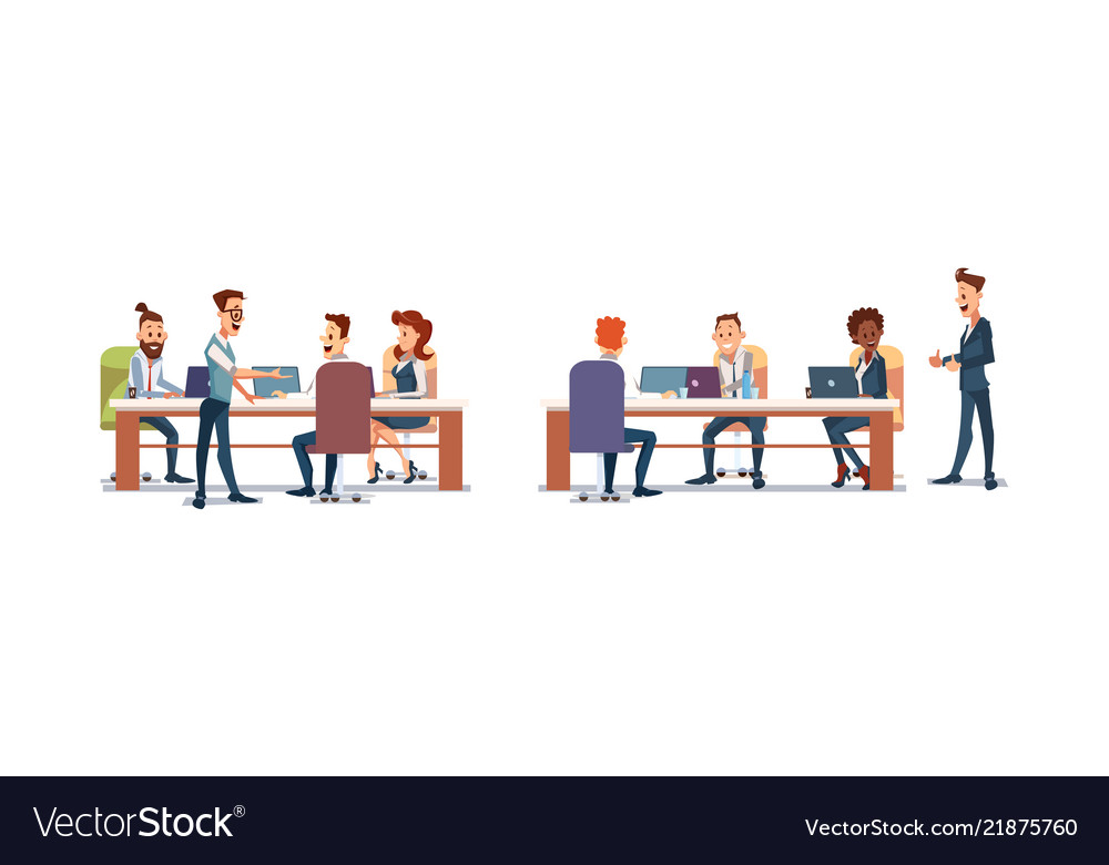 People work in office