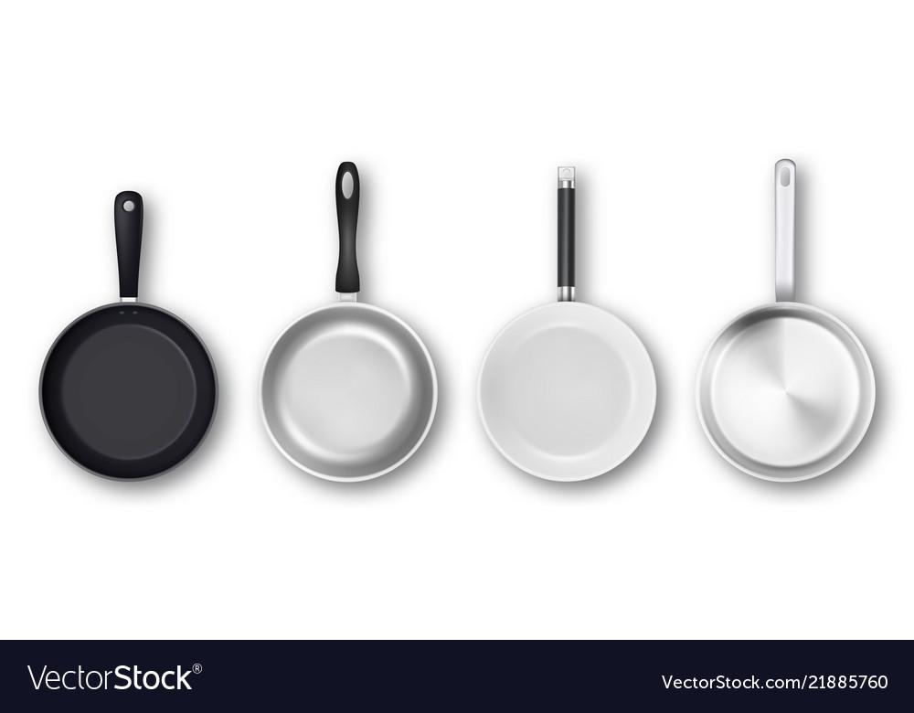 Realistic 3d empty black silver non-stick