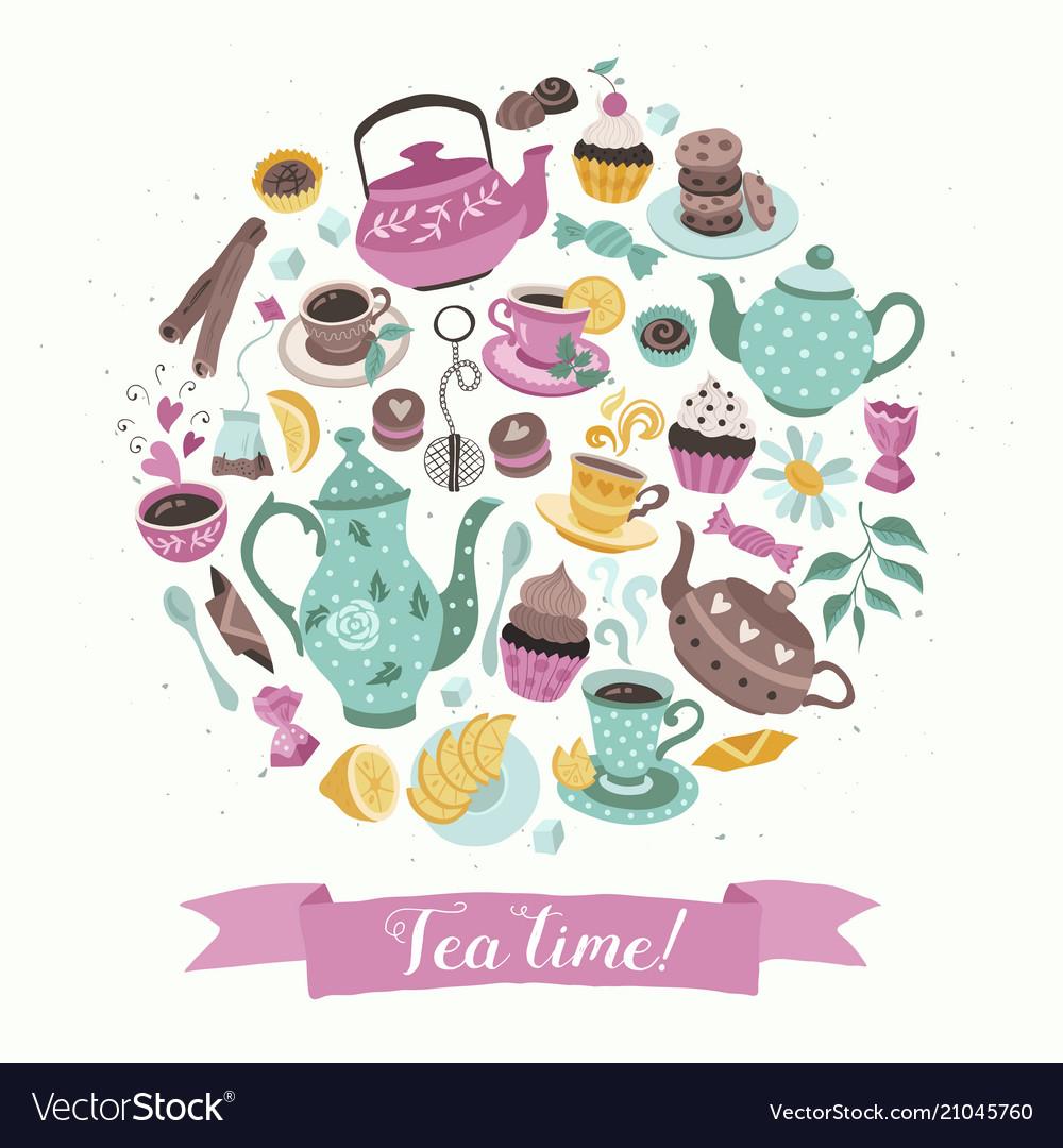Tea circle poster
