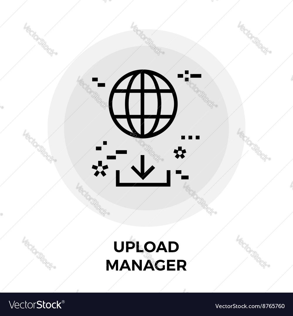 Upload Manager Line Icon