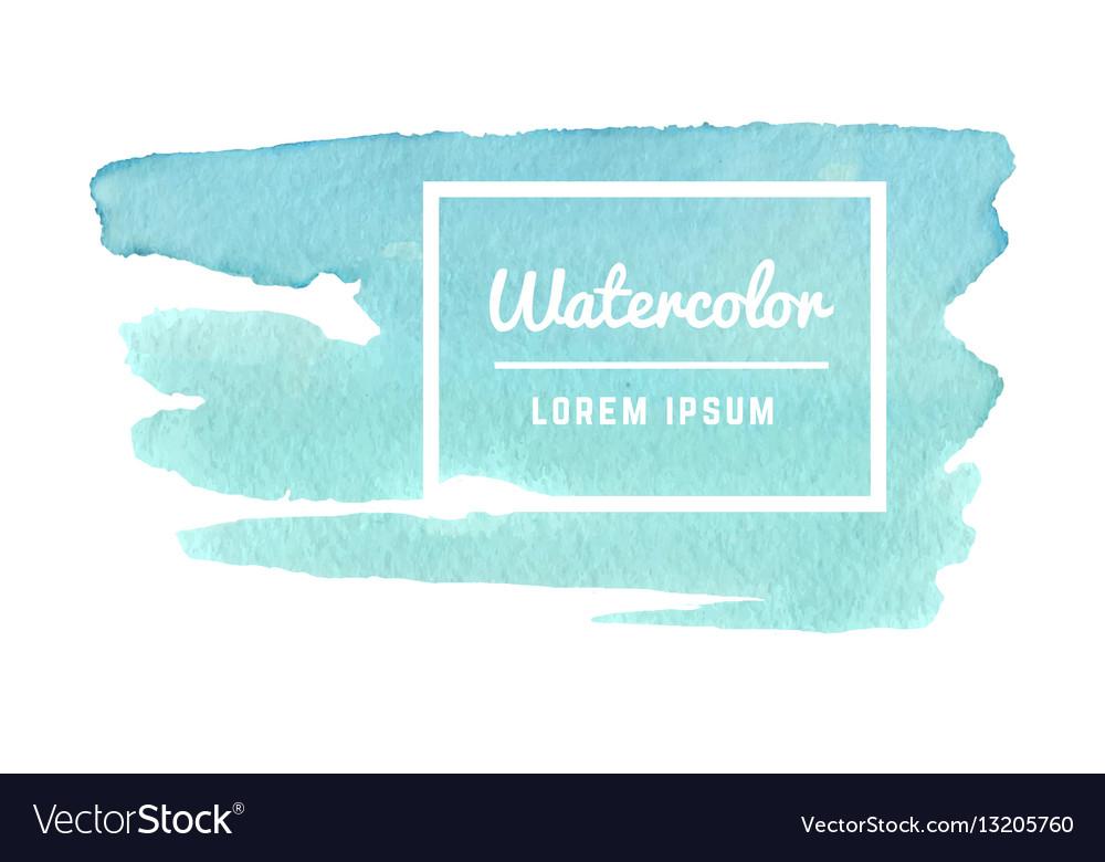 Watercolor paint splash texture abstract Vector Image