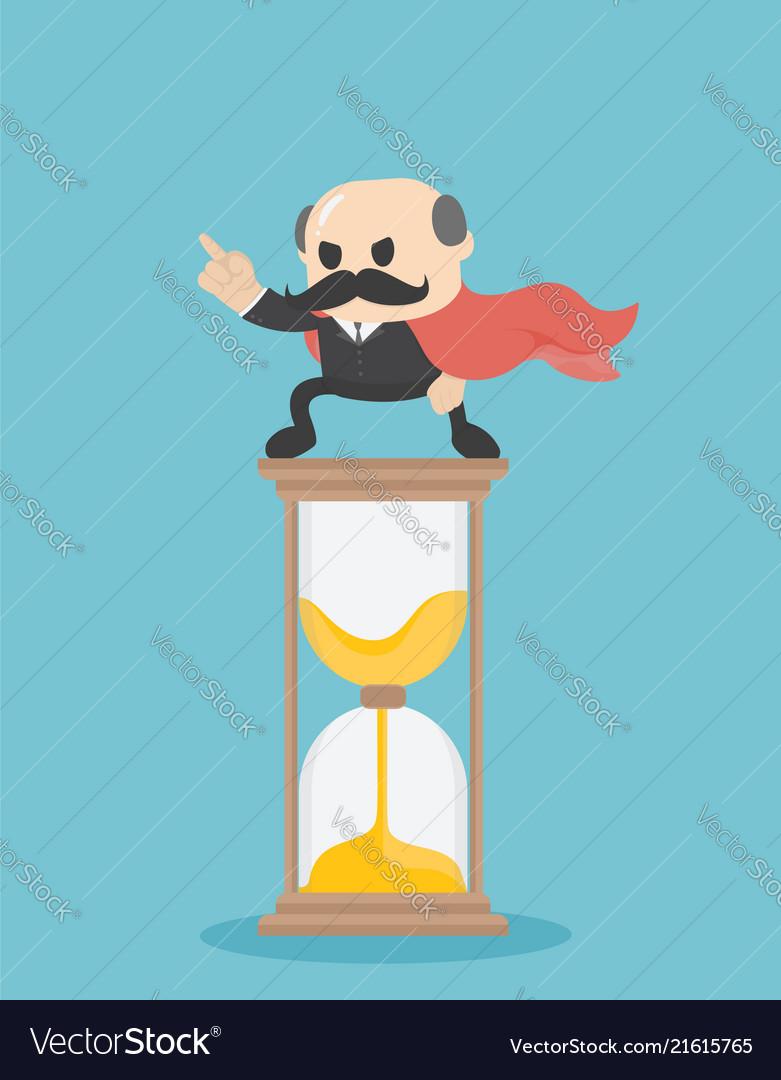 Businessman time management business concept