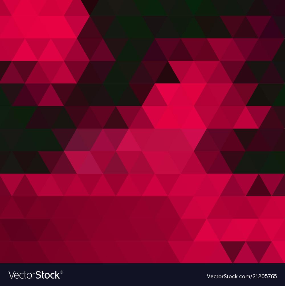 Dark red triangle mosaic template glitter