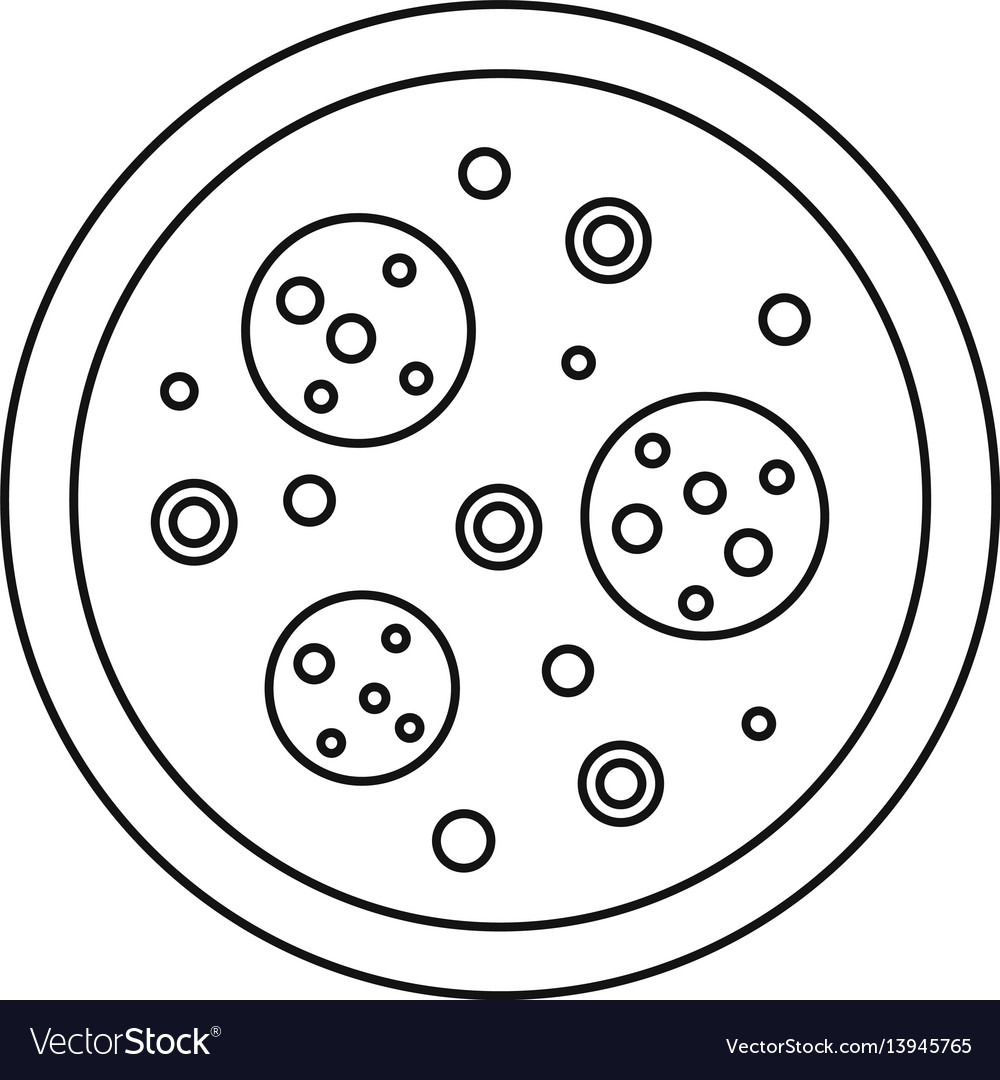 Pizza icon outline style