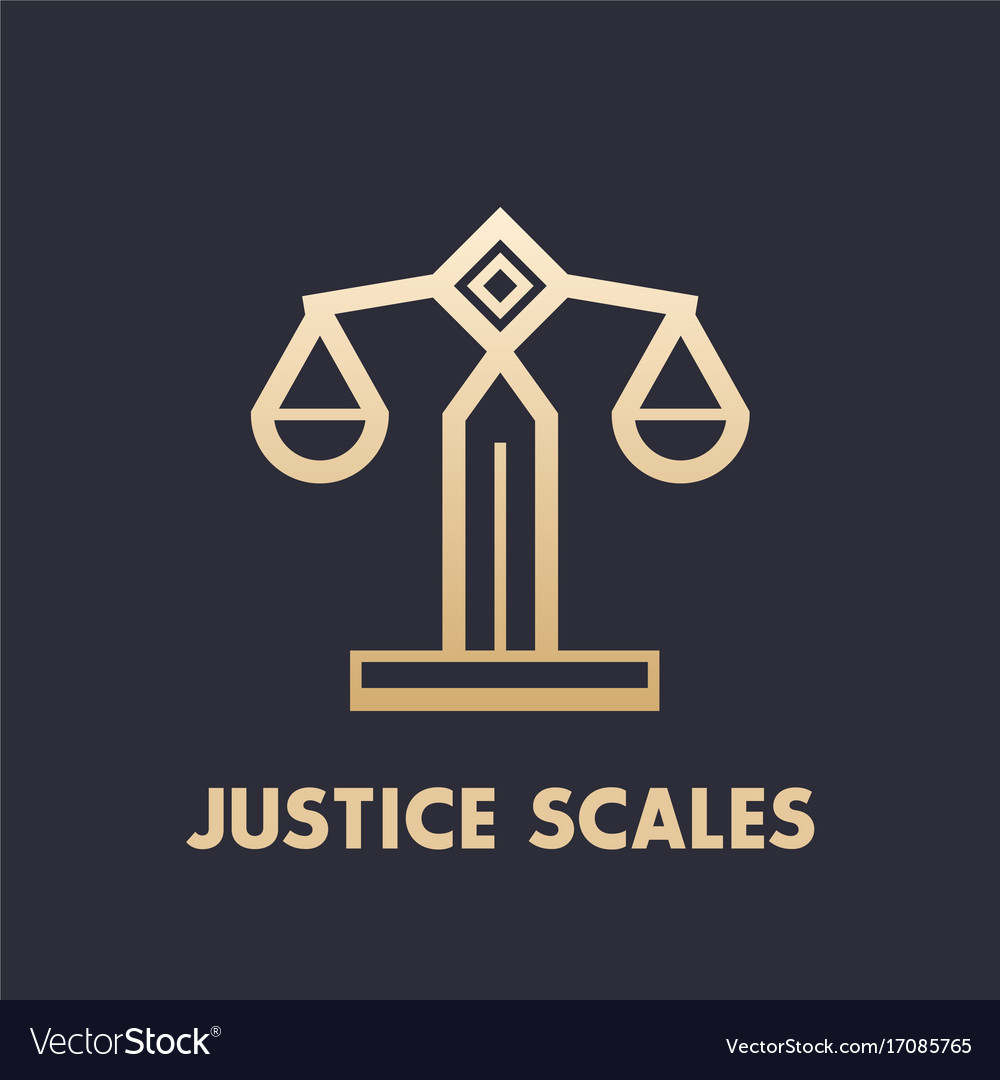 Scales icon law firm logo element
