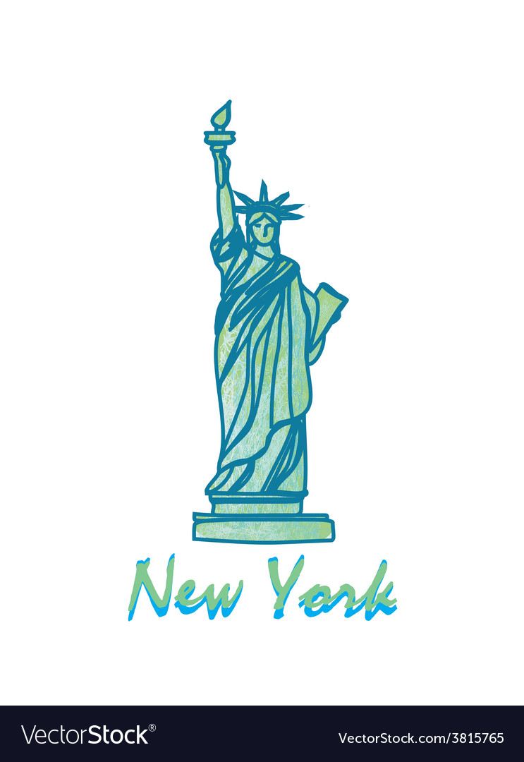 Statue Of Liberty Symbol Of New York City Vector Image