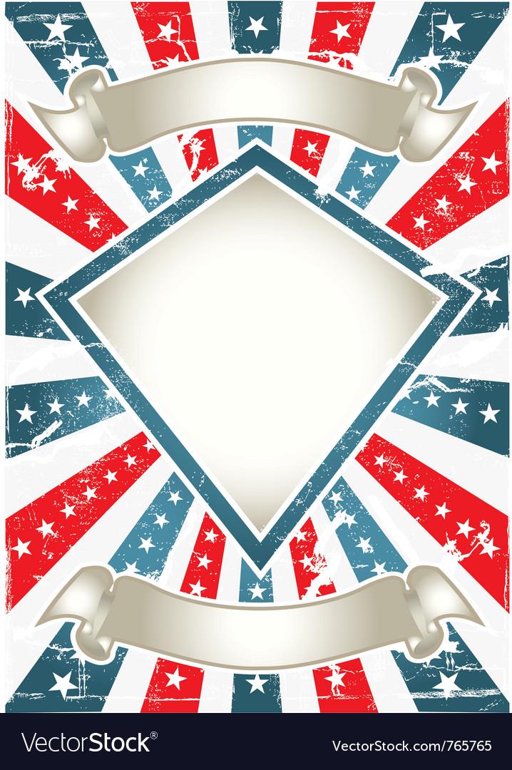 Vintage american poster vector image