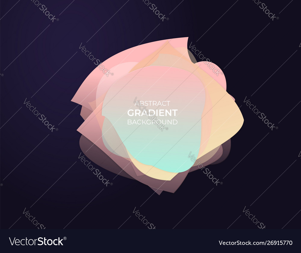 Abstract circle text box with soft modern