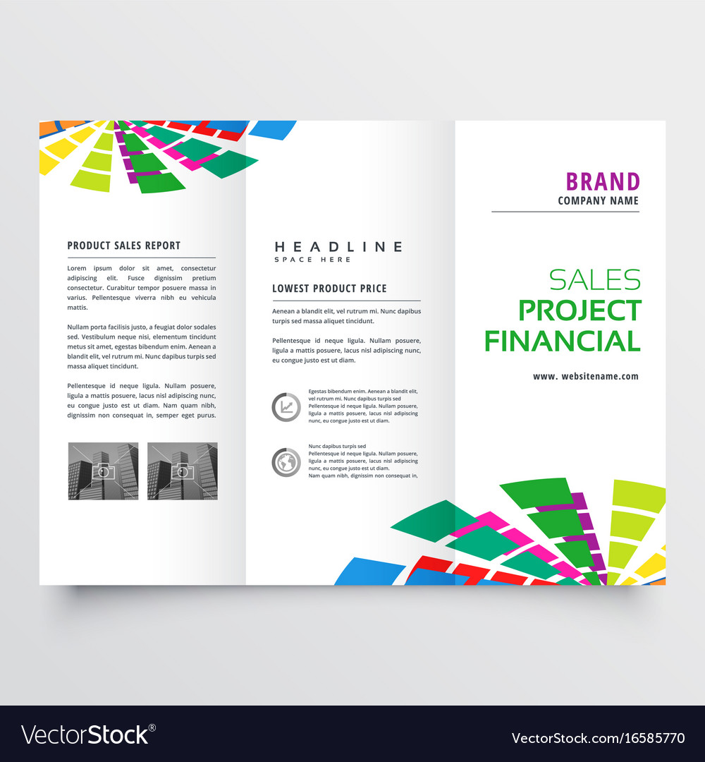 abstract colorful brochure design template vector image
