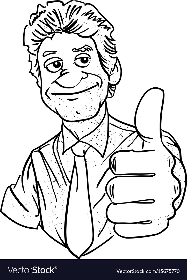 Cartoon image of man giving approval