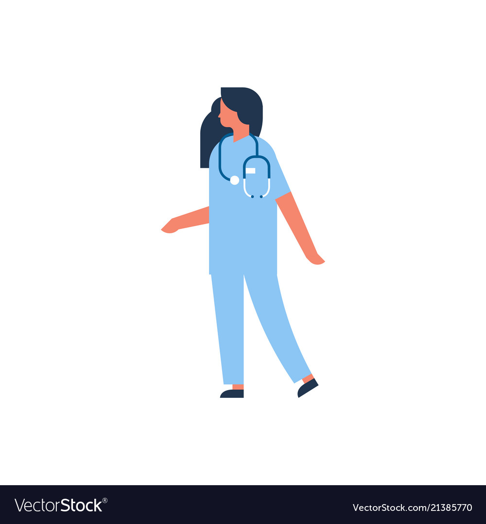 Caucasian woman medical doctor stethoscope profile
