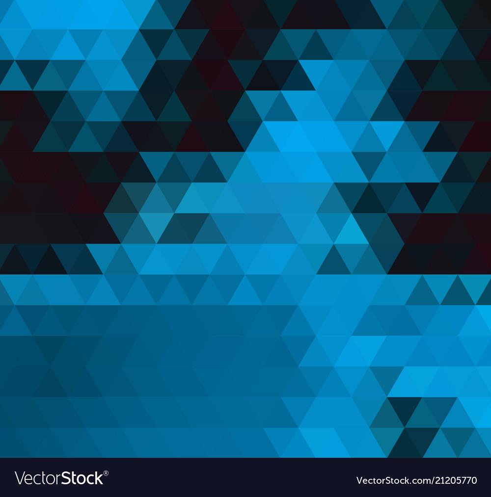 Dark blue shining triangular template creative