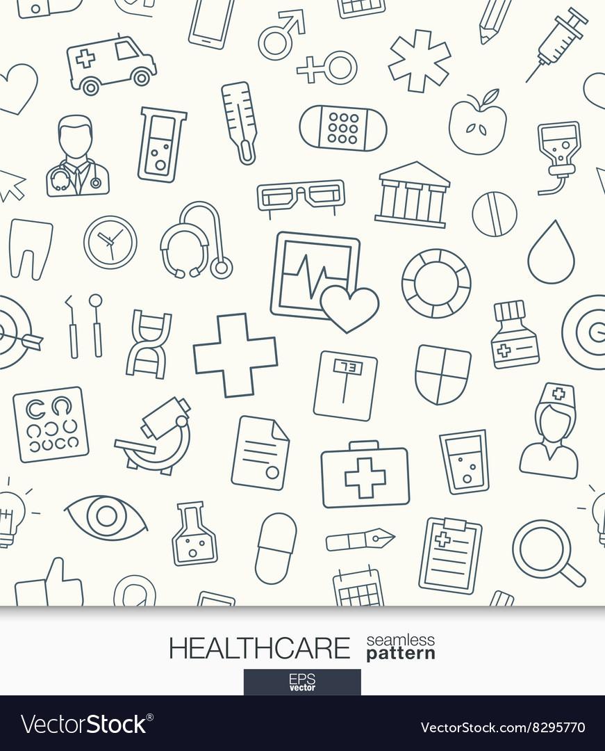 Healthcare wallpaper medical seamless pattern
