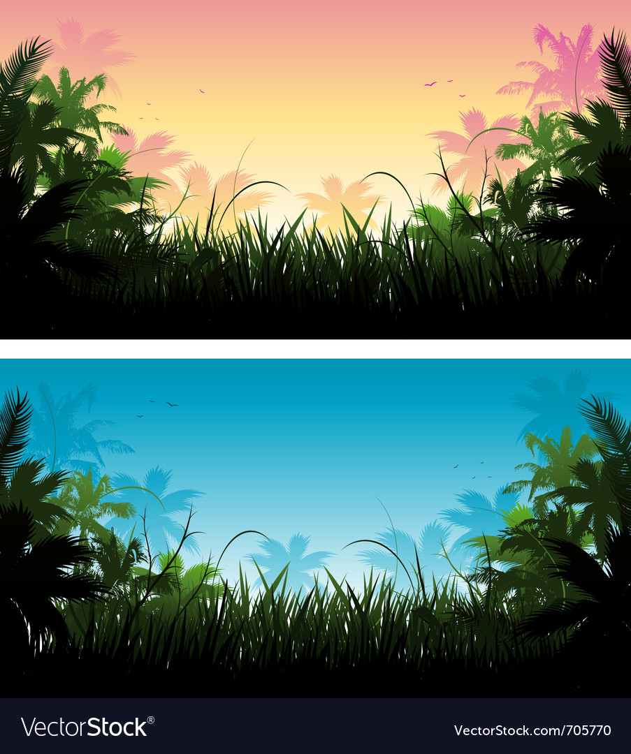 Jungle background vector image