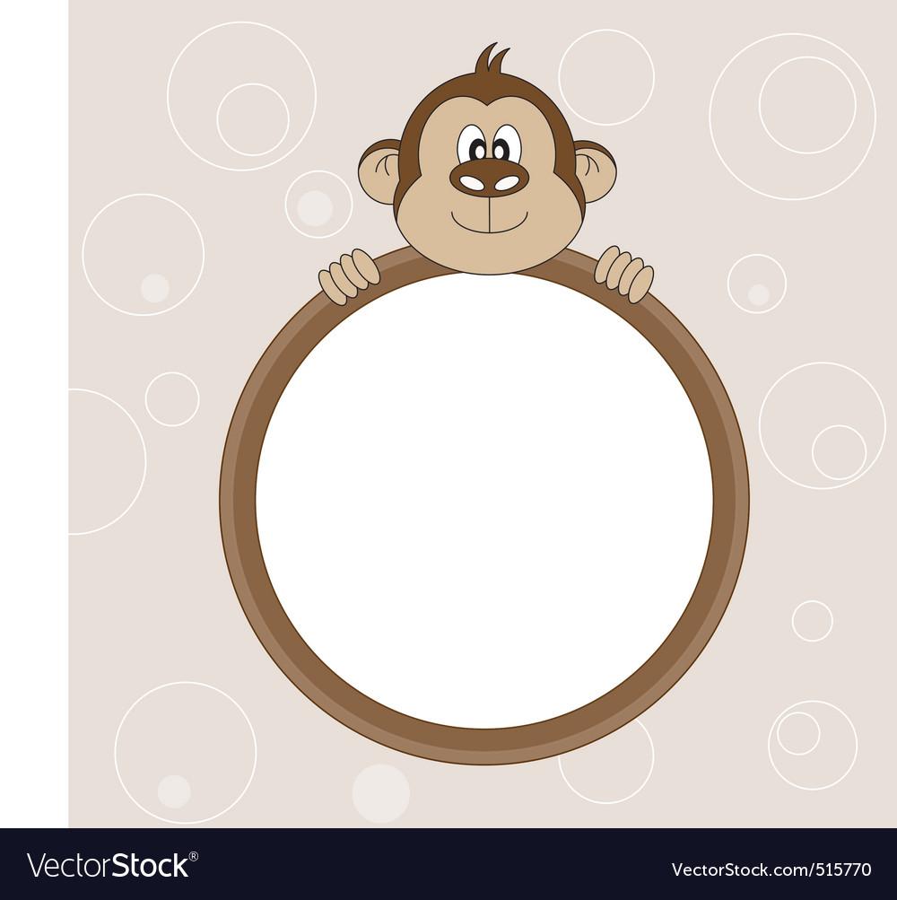 Monkey frame vector image