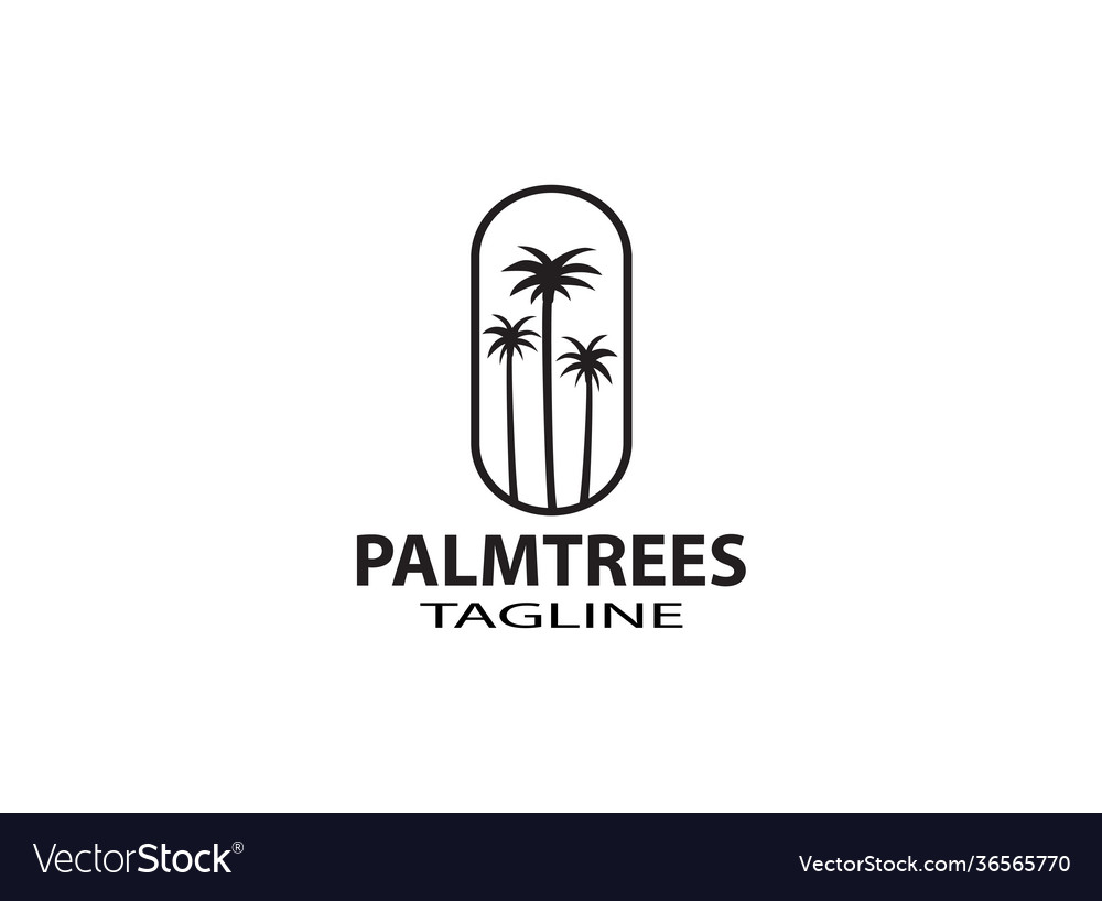 Palm tree hipster vintage logo