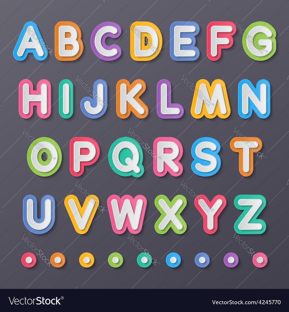 Paper capital alphabet letters
