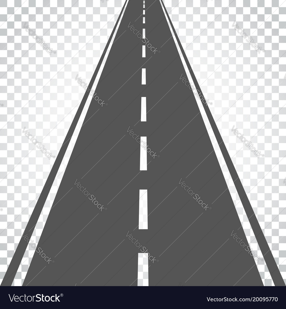 Straight road with white markings highway road