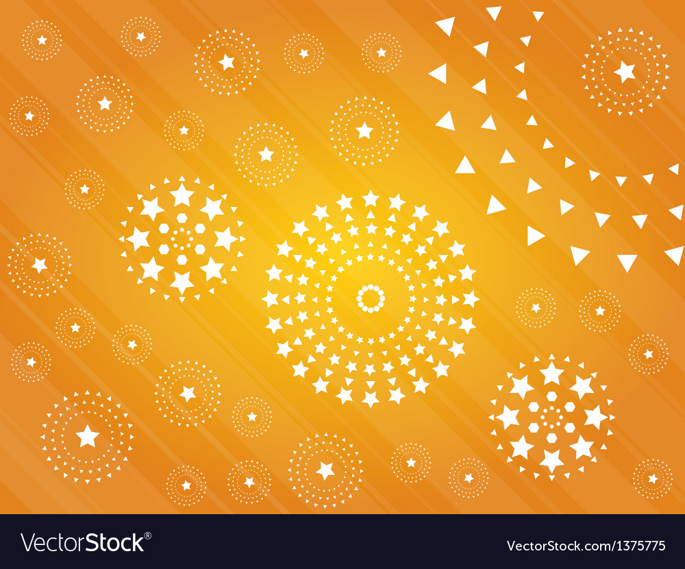 Abstract background with stars vector image